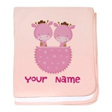 Funny Twin girls baby blanket