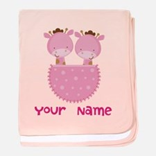 Cool Twin girls baby blanket
