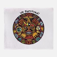 We Survived!2012 Mayan Calendar Throw Blanket