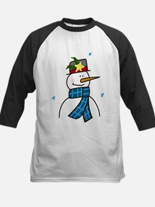 Winter Snowman Kids Baseball Jersey