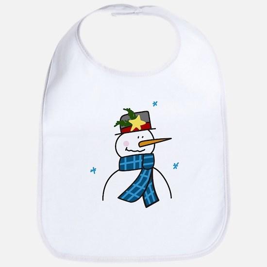 Winter Snowman Bib