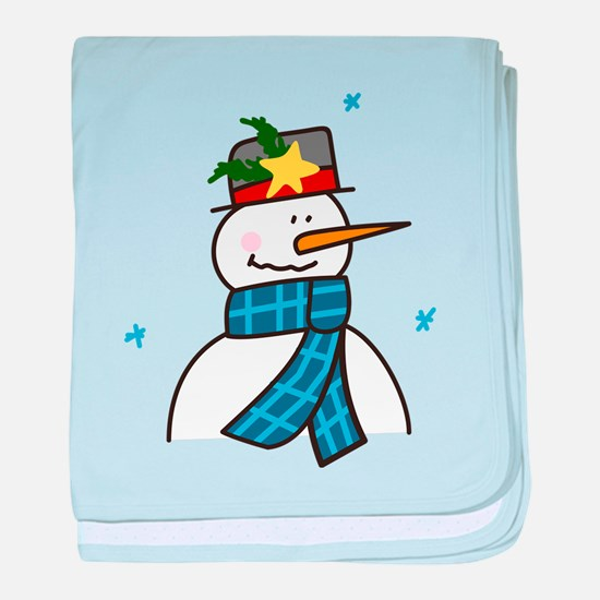 Winter Snowman baby blanket