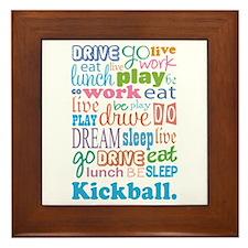 Kickball Framed Tile