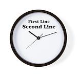 2lineTextPersonalization Wall Clock