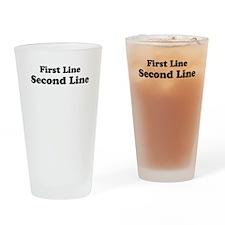2lineTextPersonalization Drinking Glass