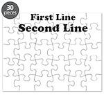2lineTextPersonalization Puzzle