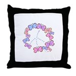 Butterfly Peace Throw Pillow