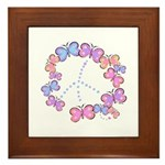 Butterfly Peace Framed Tile