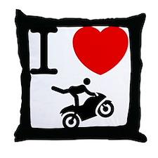 Stunt Riding Throw Pillow