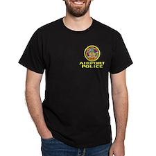 Honolulu Airport Police Black T-Shirt