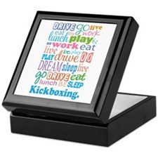 Kickboxing Keepsake Box