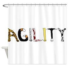 Fuzzy Agility Shower Curtain