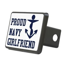 navy girlfriend Rectangular Hitch Cover