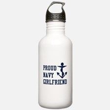 navy girlfriend Water Bottle