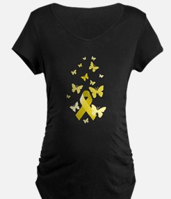 Yellow Awareness Ribbon T-Shirt