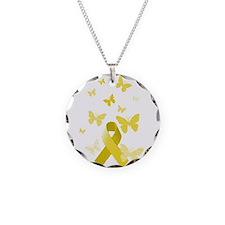 Yellow Awareness Ribbon Necklace