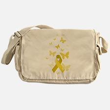 Yellow Awareness Ribbon Messenger Bag