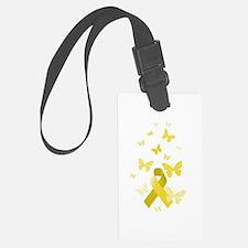 Yellow Awareness Ribbon Luggage Tag