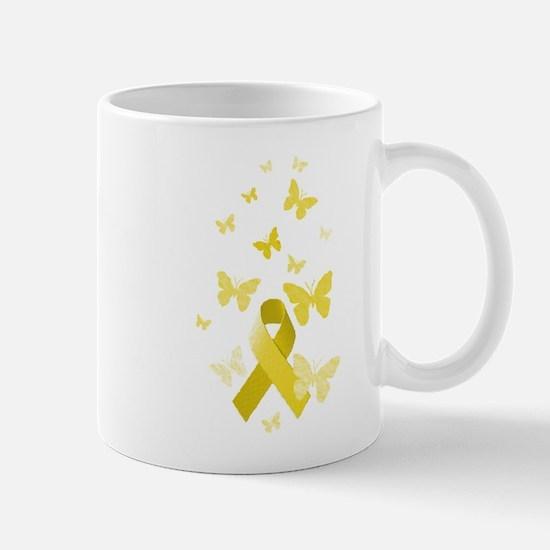 Yellow Awareness Ribbon Mug