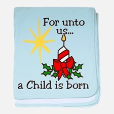 For Unto Us baby blanket