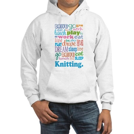 Knitting Hooded Sweatshirt