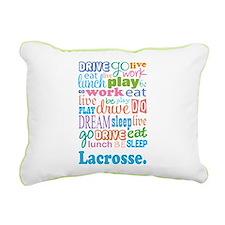 Lacrosse Rectangular Canvas Pillow