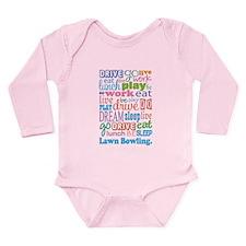 Lawn Bowling Long Sleeve Infant Bodysuit