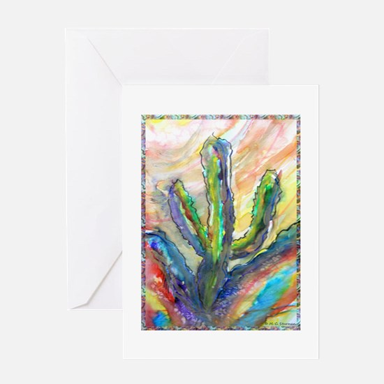 Cactus, southwest art! Greeting Card
