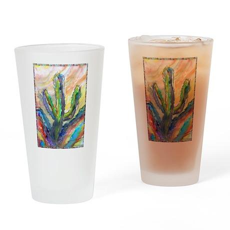 Cactus, southwest art! Drinking Glass