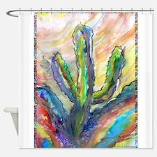 Cactus, southwest art! Shower Curtain
