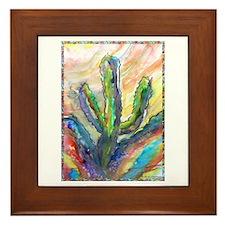 Cactus, southwest art! Framed Tile