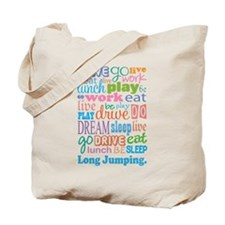 Long Jumping Tote Bag