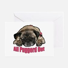 Puggerd out Greeting Card