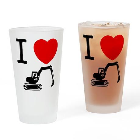 Excavator Drinking Glass