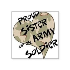 Proud sister Army soldier Rectangle Sticker