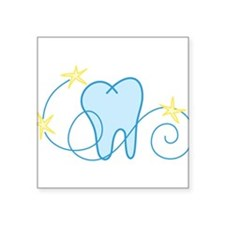 "Tooth Square Sticker 3"" x 3"""