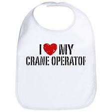 I Love My Crane Operator Bib