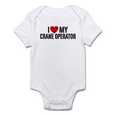 I Love My Crane Operator Infant Bodysuit