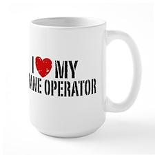 I Love My Crane Operator Mug