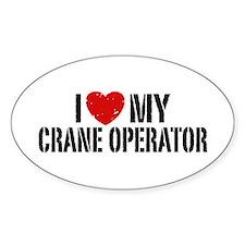 I Love My Crane Operator Bumper Stickers