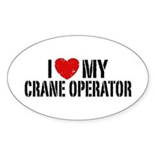 I Love My Crane Operator Decal