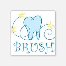"Brush Square Sticker 3"" x 3"""