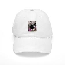 Freckles Tux Cat Flowers II Baseball Cap
