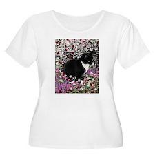 Freckles Tux Cat Flowers II T-Shirt