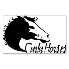 Curly Horses XL Decal