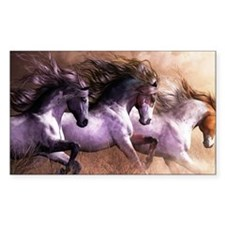 horses running Decal
