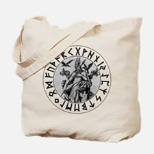 Odin Rune Shield Blk on Wht.png Tote Bag