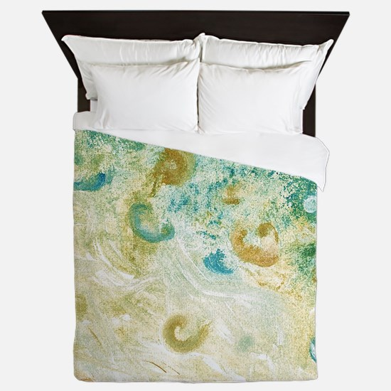 Sand and Surf Abstract Queen Duvet Cover