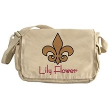 Lily Flower Messenger Bag