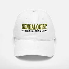 Genealogist Missing Links Baseball Baseball Cap